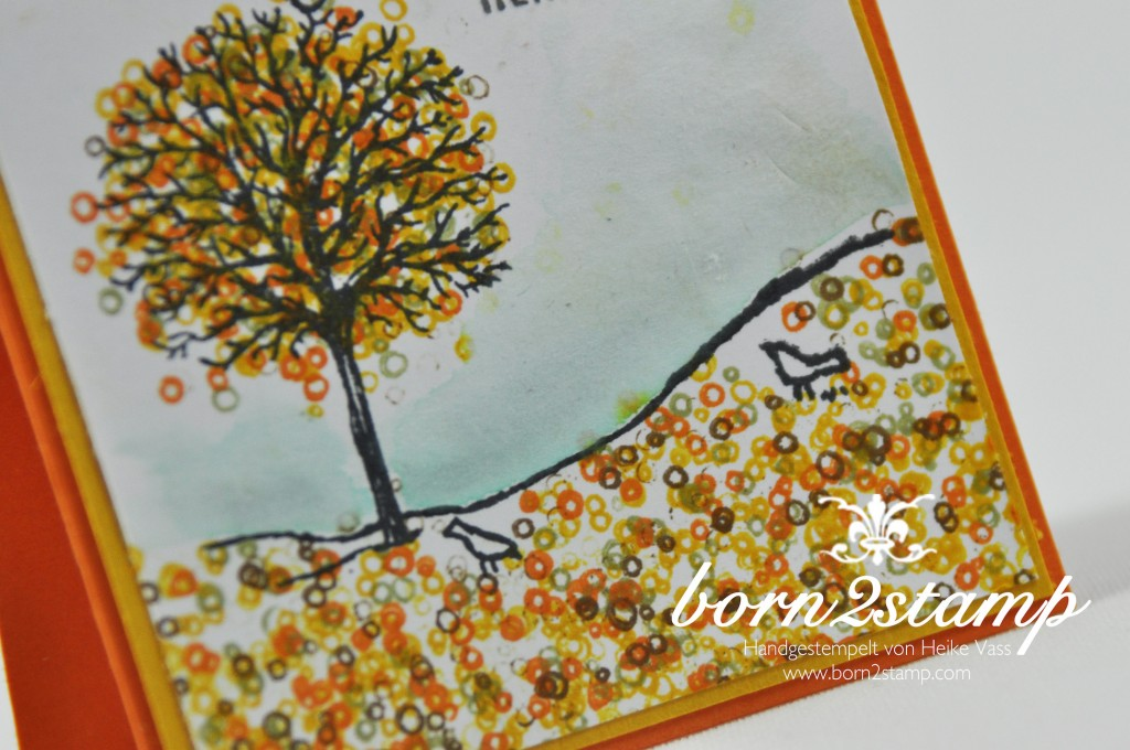 born2stamp STAMPIN' UP! Minikarten - Herbst - Winter - Bloghop - Frohliche Stunden - Aquapainter - Aquarellpapier