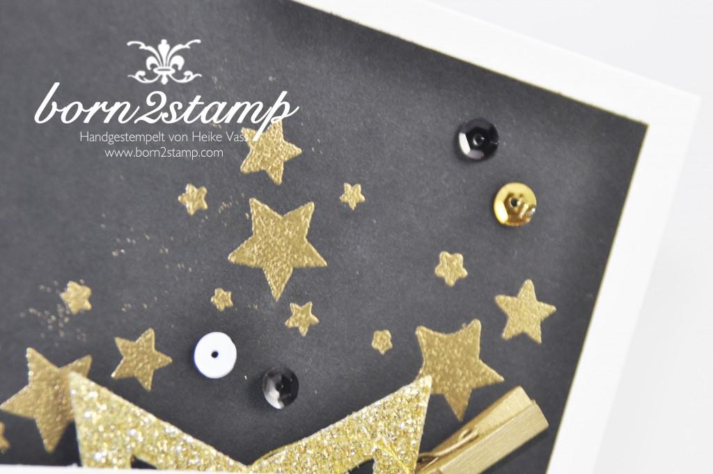 born2stamp STAMPIN' UP! Weihnachtskarte - Stern-Kollektion - Embossing - Perpetual Birthday Calendar - Froehliche Weihnachten