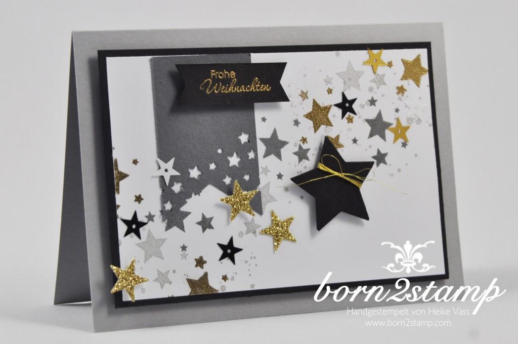 born2stamp STAMPIN' UP! Weihnachtskarte - Perpetual Birthday Calendar - Perfekte Paerchen - Sterne - stars