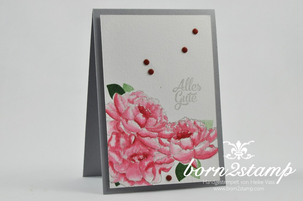 born2stamp STAMPIN' UP! Geburtstagskarte - Blended Bloom - Alles wird gut - Flower Patch- Grusselemente