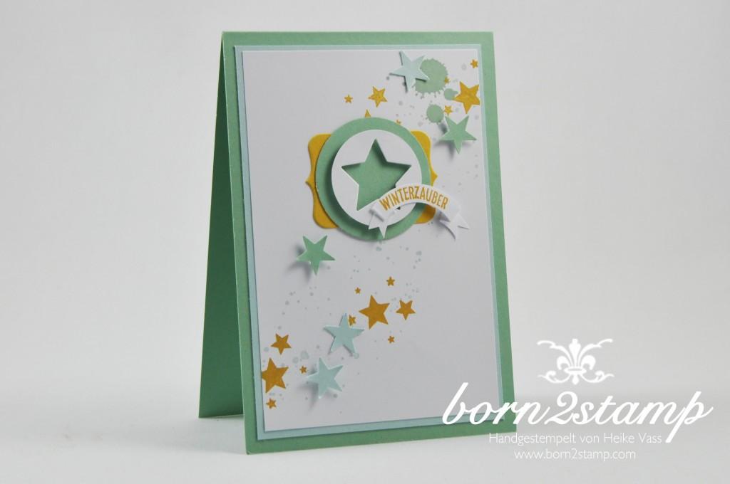 born2stamp STAMPIN' UP! Weihnachtskarte - Froehliche Stunden - Perpetual Birthday Calendar - Sterne