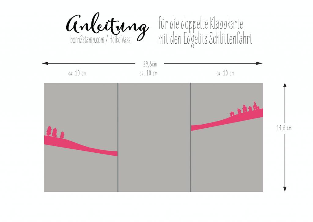 Anleitung STAMPIN' UP! born2stamp Klappkarte Schlittenfahrt