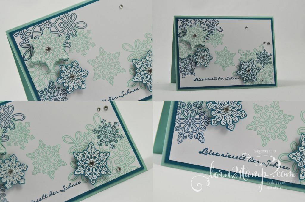 born2stamp STAMPIN' UP! Weihnachtskarte - Flockentanz - Kling Gloeckchen