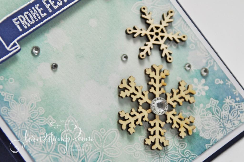born2stamp STAMPIN' UP! Weihnachtskarte - Flockenzauber - Grosse Klasse - Froehliche Stunden - Framelits Grosse Zahlen