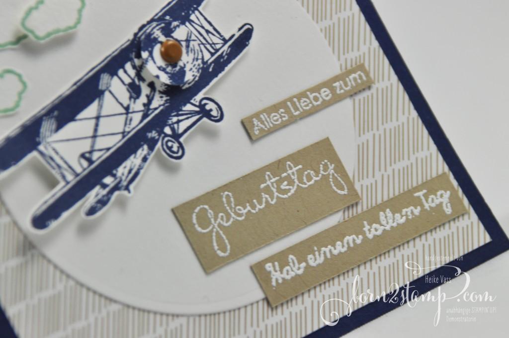 born2stamp STAMPIN' UP! Geburtstagskarte - SAB - Sale-a-bration - Hoch hinaus - Grosse klasse - Perfekte Paerchen - DSP im Block Liebesblueten