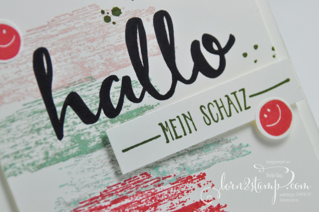born2stamp STAMPIN' UP! Grusskarte - Hallo - Sale-a-bration - SAB - Timeless Textures