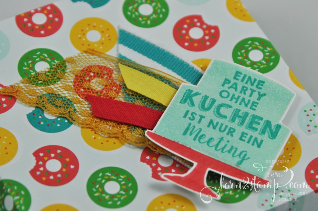 born2stamp STAMPIN' UP! Diamantbox - DSP im Block bunte Party - Party-Gruesse