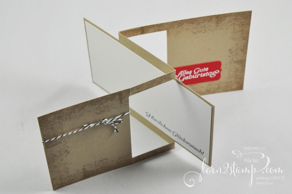 born2stamp STAMPIN' UP! Geburtstagskarte - Sale-a-bration - SAB - Hoch hinaus - Timeless Textures
