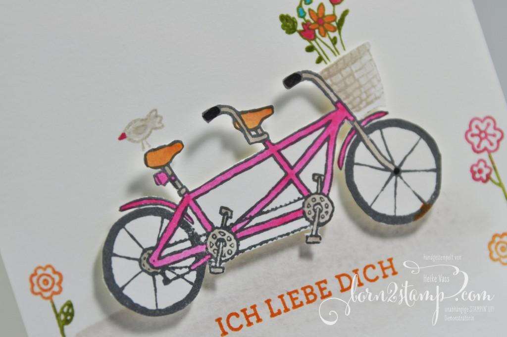 born2stamp STAMPIN' UP! Valentinskarte - Gemeinsam stark - Landlust - Liebesblueten