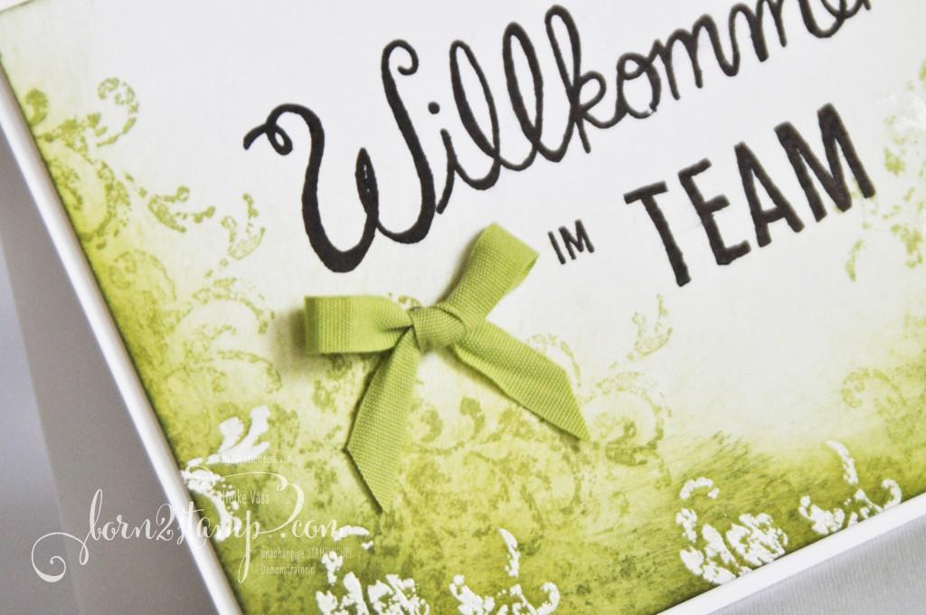 born2stamp STAMPIN' UP! Willkommenskarte - Timeless Textures - Herzlich Willkommen