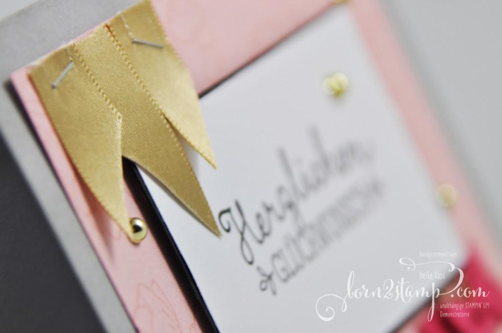 born2stamp STAMPIN' UP! Geburtstagskarte - Geburtstagsblumen - Wunderbare Worte
