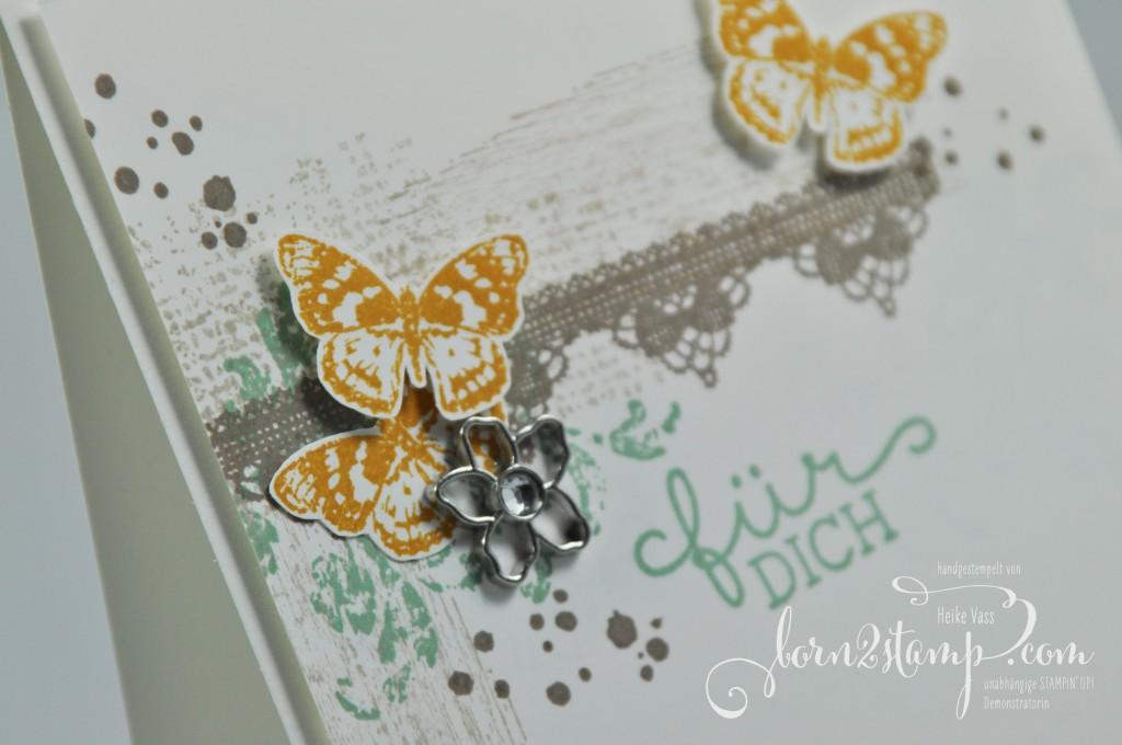 born2stamp STAMPIN' UP! Karte - Timeless Textures - Grateful Bunch - Geburtstagsblumen - Botanischer Garten Accessoires