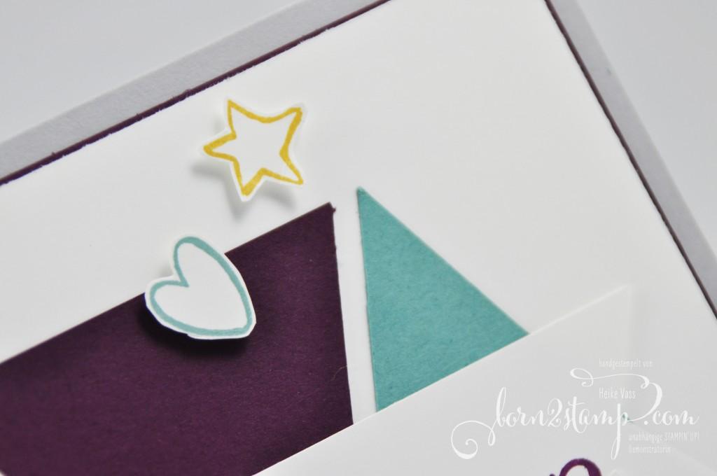 born2stamp STAMPIN' UP! Babykarte Herzlich Willkommen - InColor