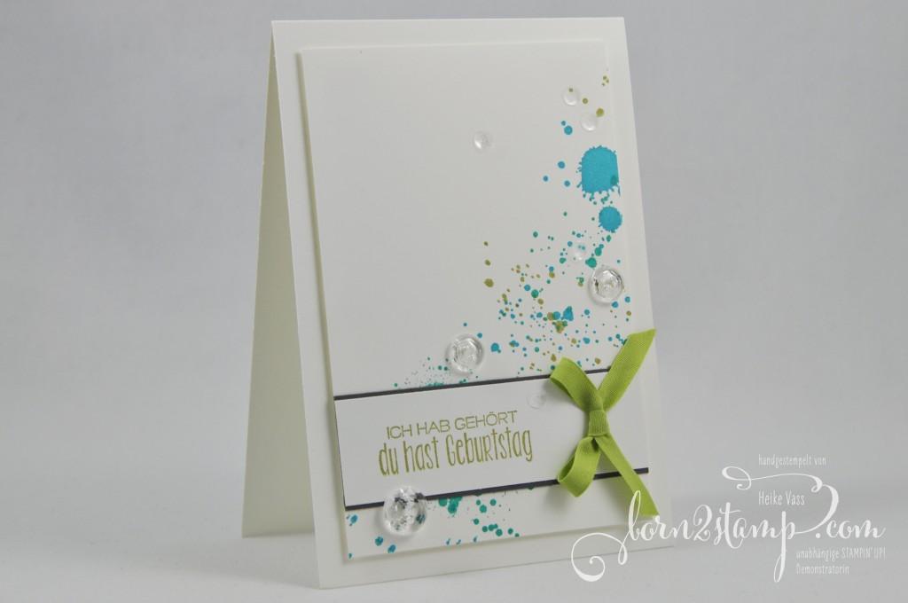 born2stamp STAMPIN' UP! Geburtstagskarte - Gorgeous Grunge - Wunderbare Worte - geschliffene Knoepfe