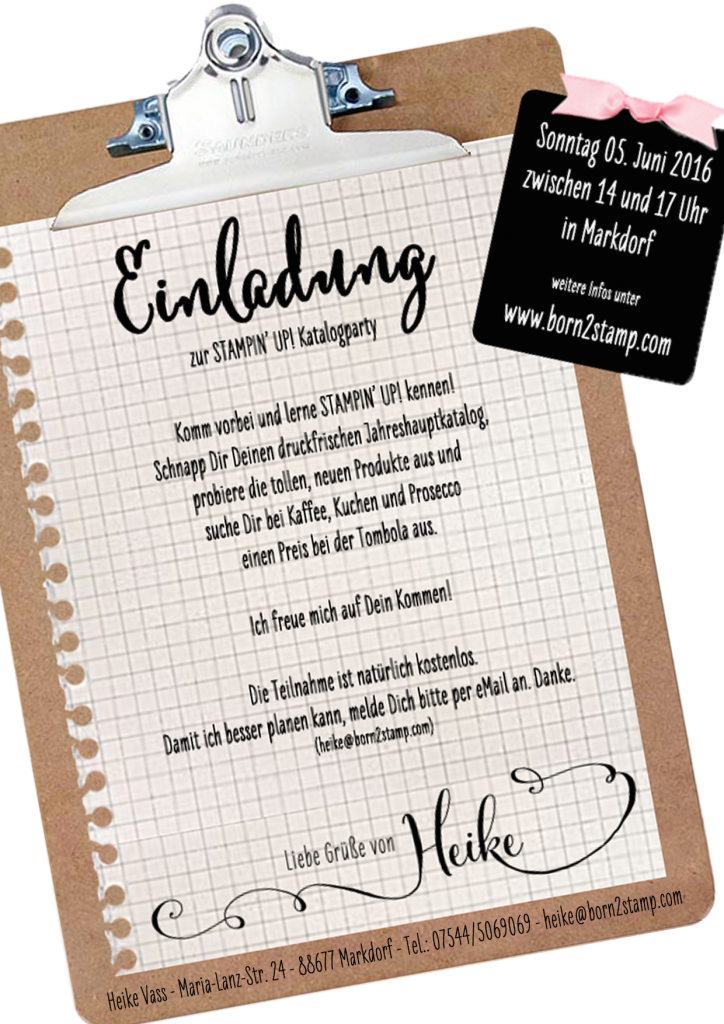 STAMPIN' UP! Katalogparty 2016