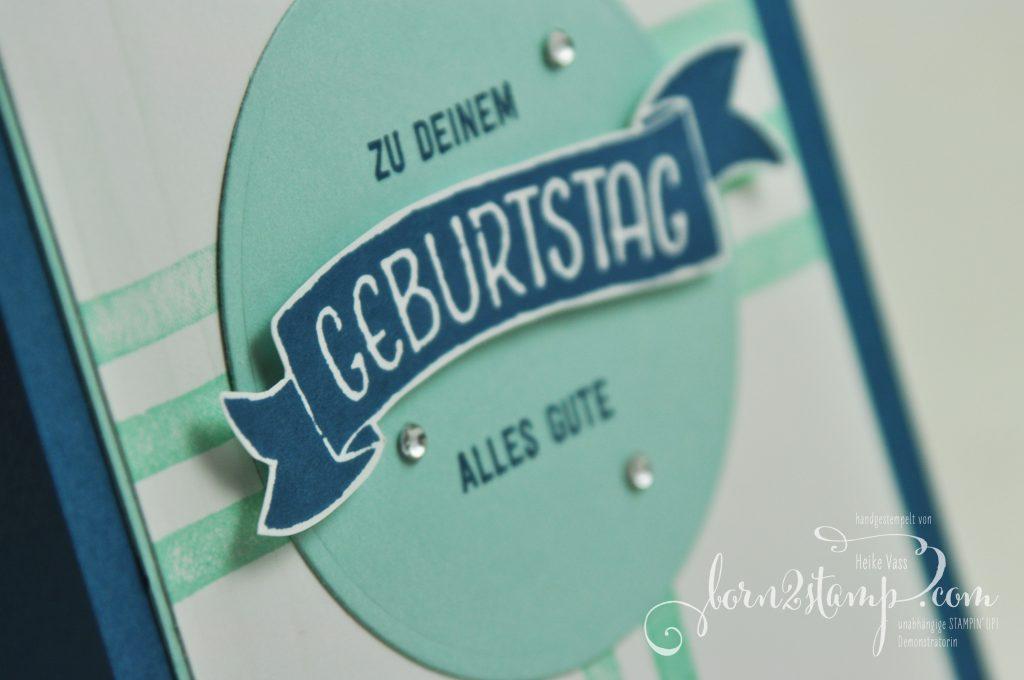 born2stamp STAMPIN' UP! Geburtstagskarte - Bannerweise Gruesse - Gruesse rund ums Jahr - Brushstrokes