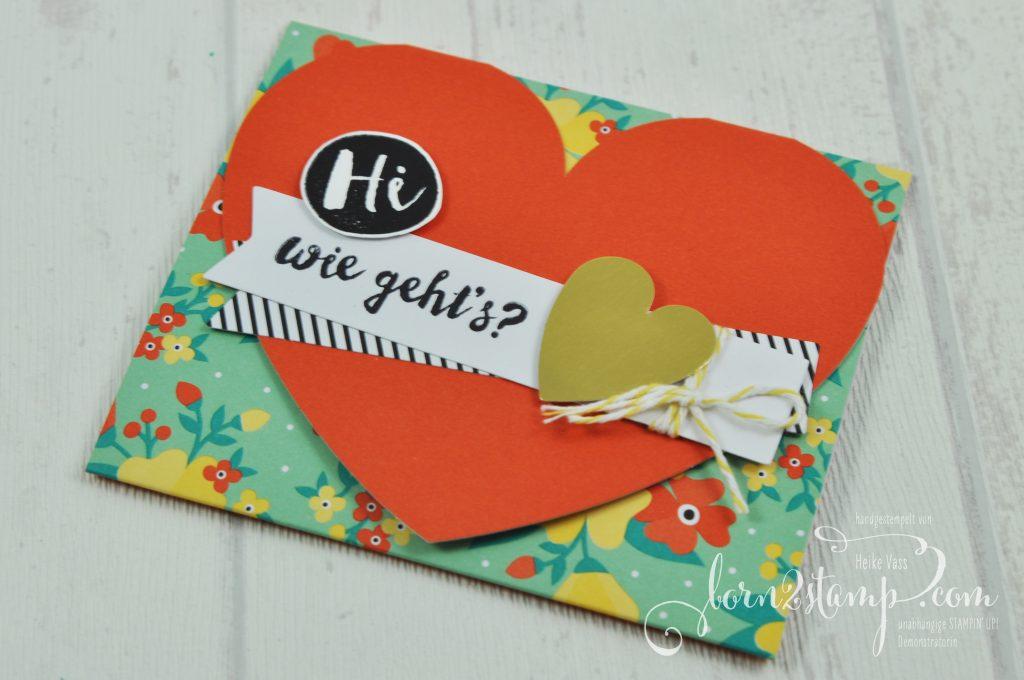 born2stamp STAMPIN' UP! Grusskarte - Kartenset Gute-Laune-Gruesse