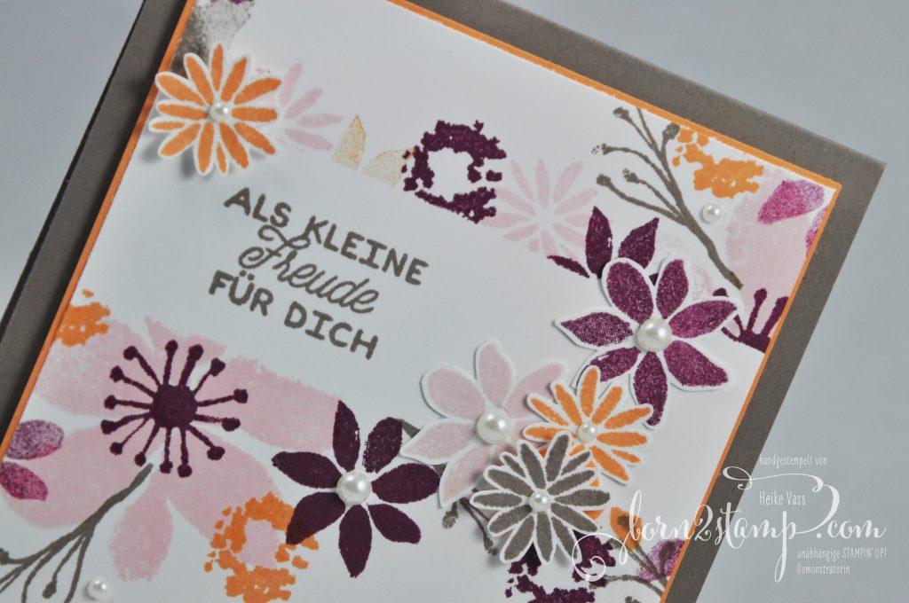 born2stamp STAMPIN' UP! Grusskarte - Durch die Blume - Designer-Grusselemente