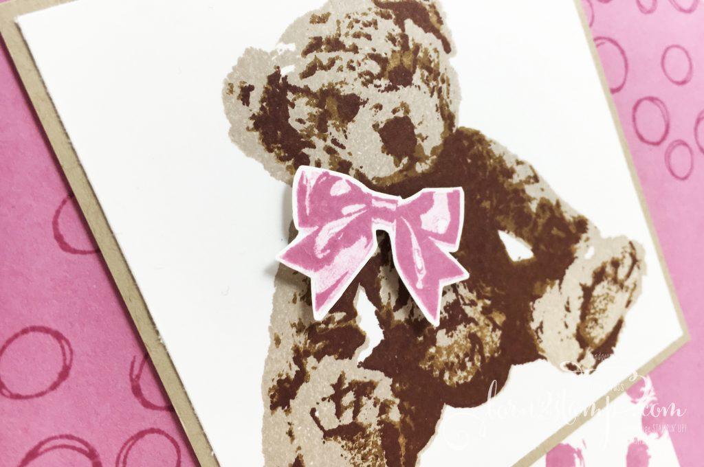 born2stamp STAMPIN' UP! Babykarte - Unentbärliche Gruesse - Playful Backgrounds