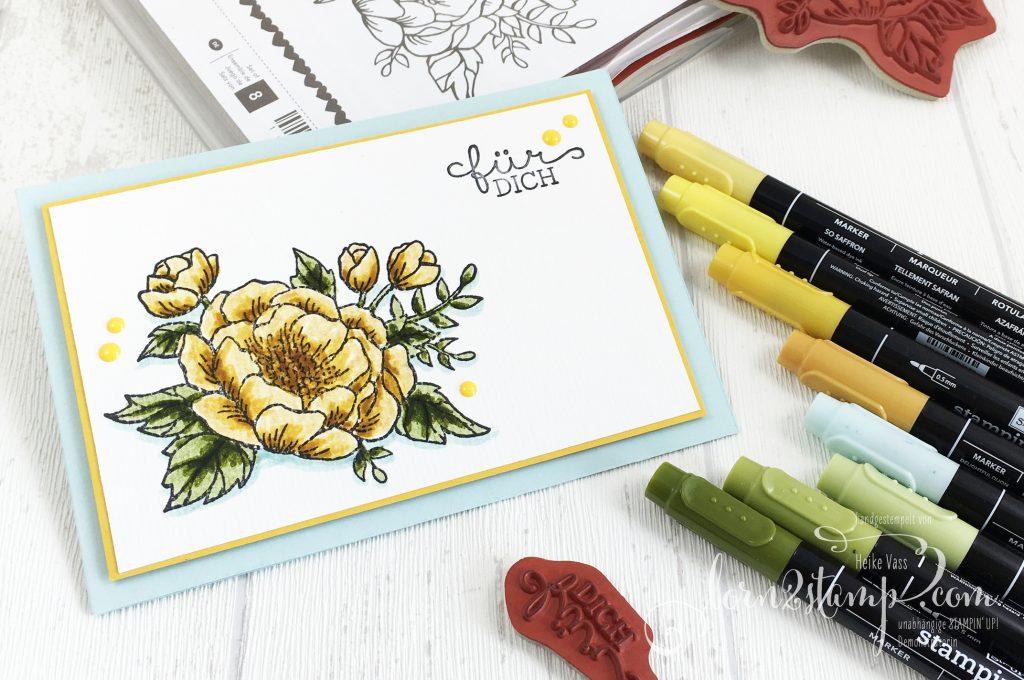 born2stamp STAMPIN' UP! Grusskarte - Geburtstagsblumen - Stampin' Write Marker