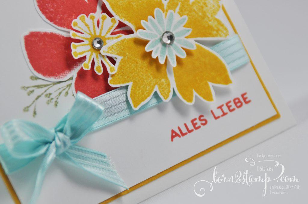 born2stamp STAMPIN' UP! - Durch die Blume - Designer-Grusselemente - besticktes Satinband