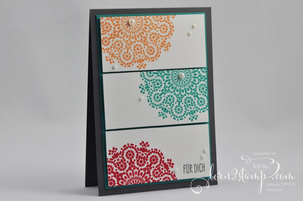 born2stamp STAMPIN' UP! Karte - Moroccan Nights - Glasklare Gruesse