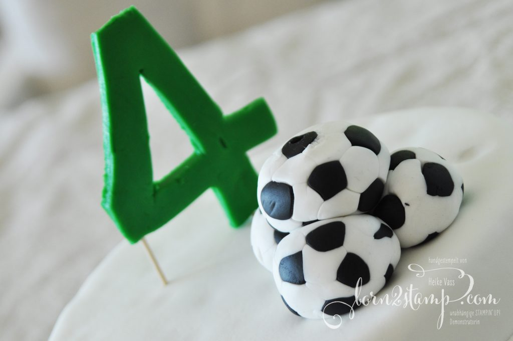 born2stamp STAMPIN' UP! Fussball-Party Torte