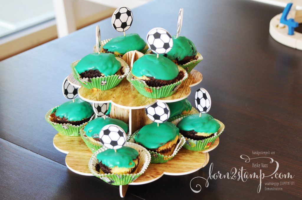 born2stamp STAMPIN' UP! Fussball-Party Muffins