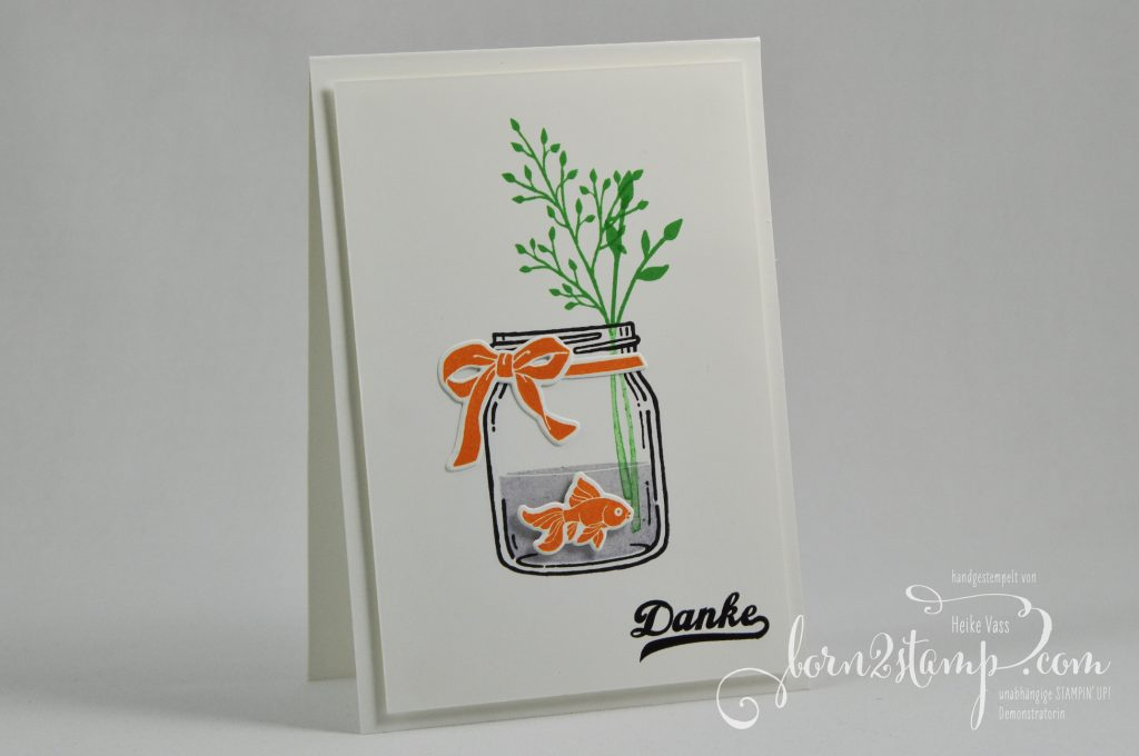 born2stamp stampin'up! inkspire_me dankeskarte glasklare grüsse everyday jars framelits