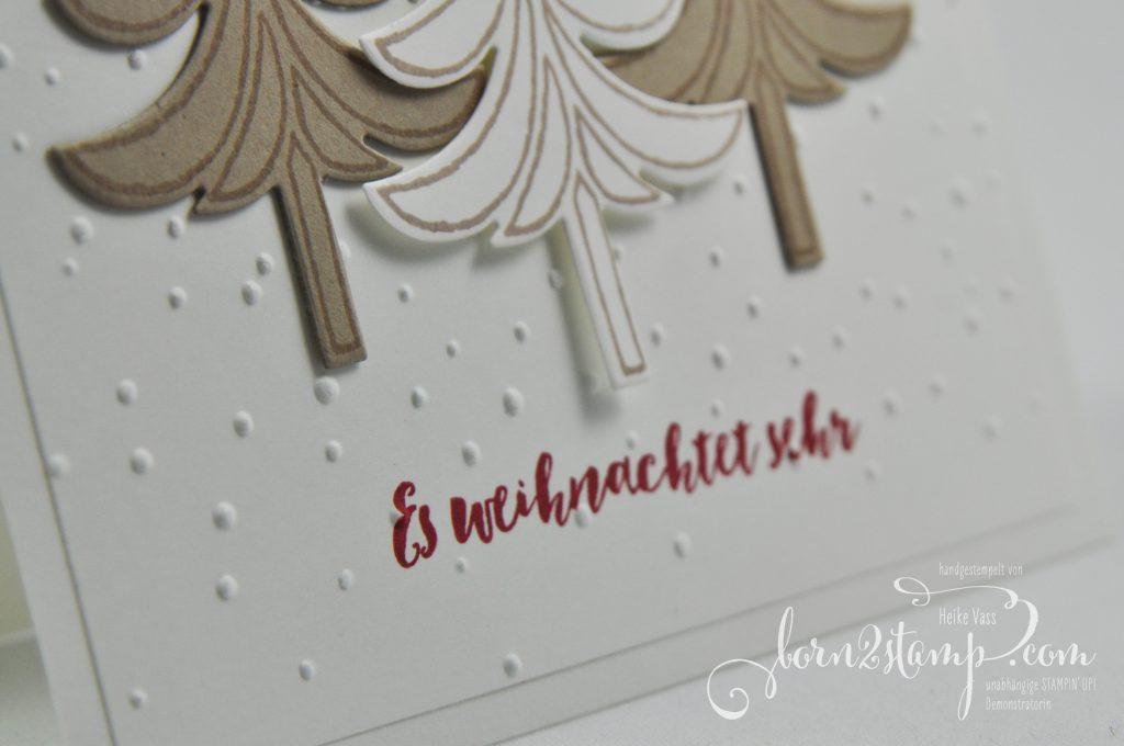 born2stamp IN{K}SPIRE_me STAMPIN' UP Weihnachtskarte - Weihnachtsschlitten - Tannenzauber- - Leise rieselt