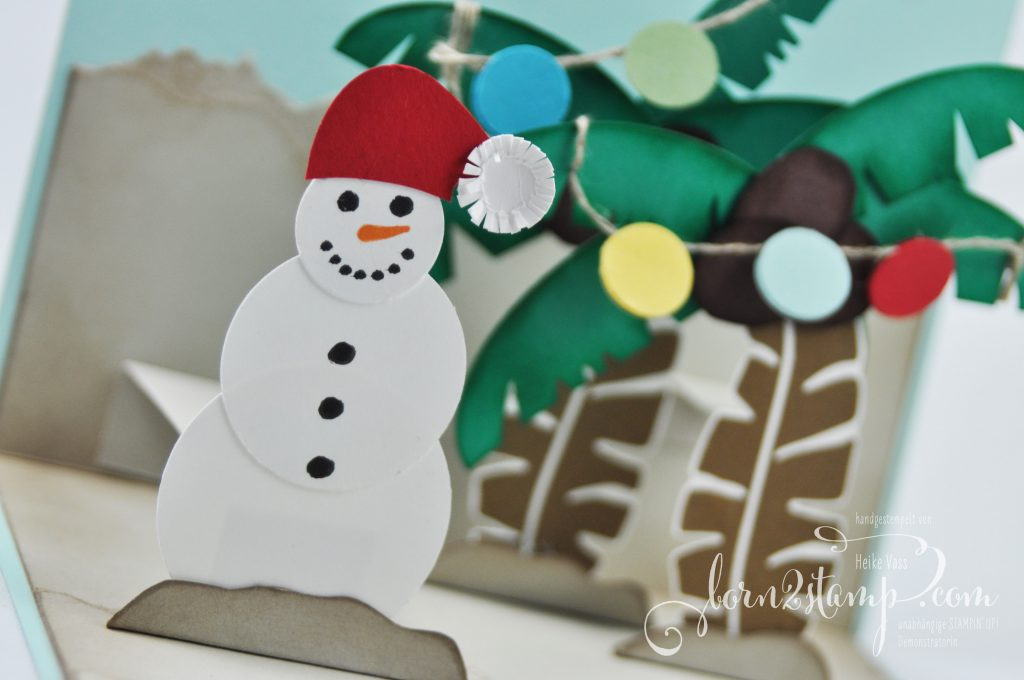 born2stamp STAMPIN' UP! IN{K}SPIRE_me - Weihnachtskarte - Pop of Paradise - Tannenzauber - Partyballons - Fröhliche Weihnachten
