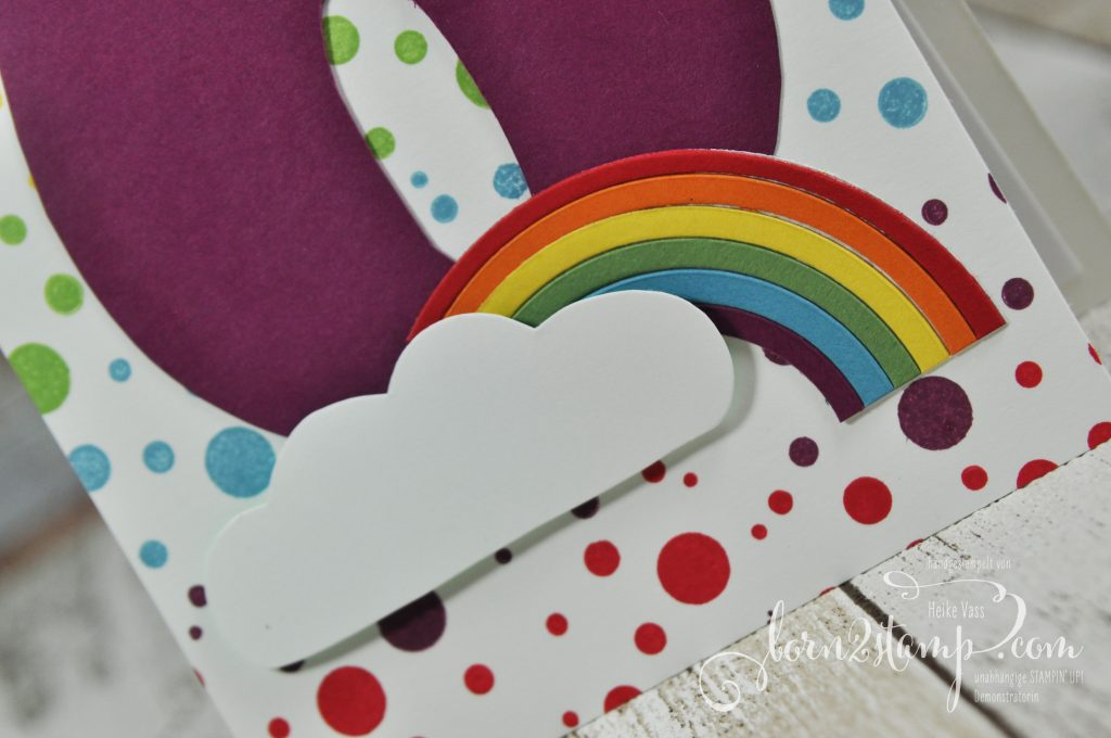 born2stamp STAMPIN' UP! Regenbogen-Party Einladungen