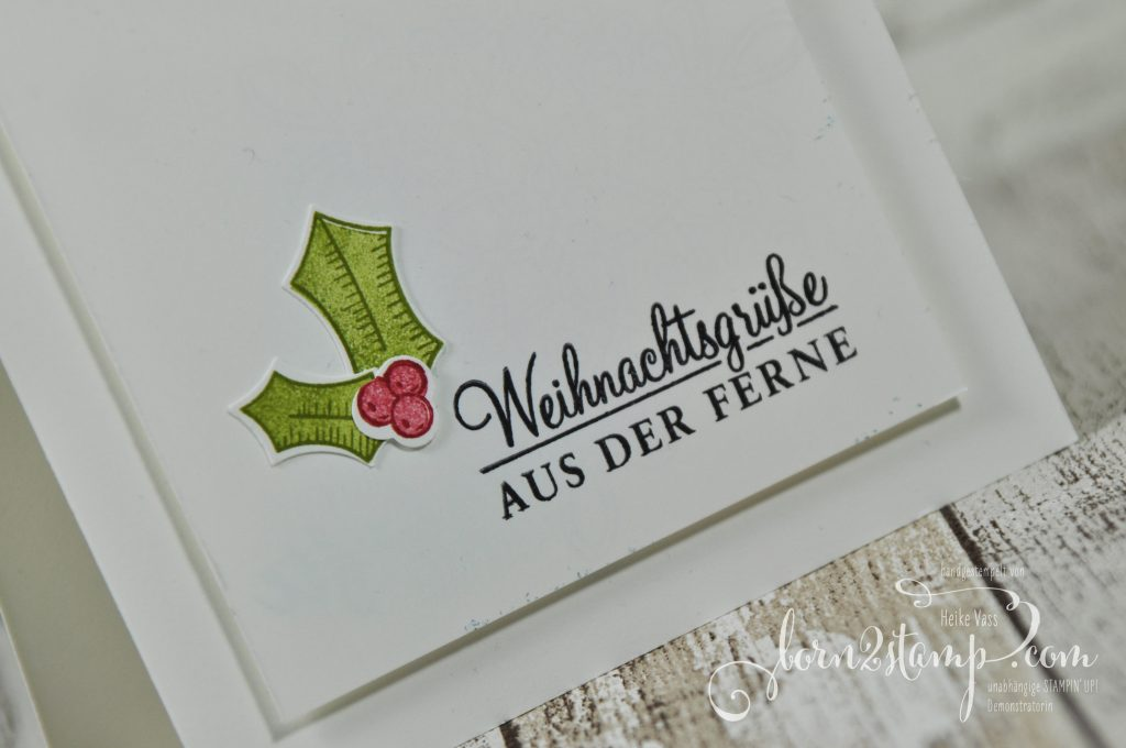 born2stamp STAMPIN' UP! Weihnachtskarte - Adventsgruen