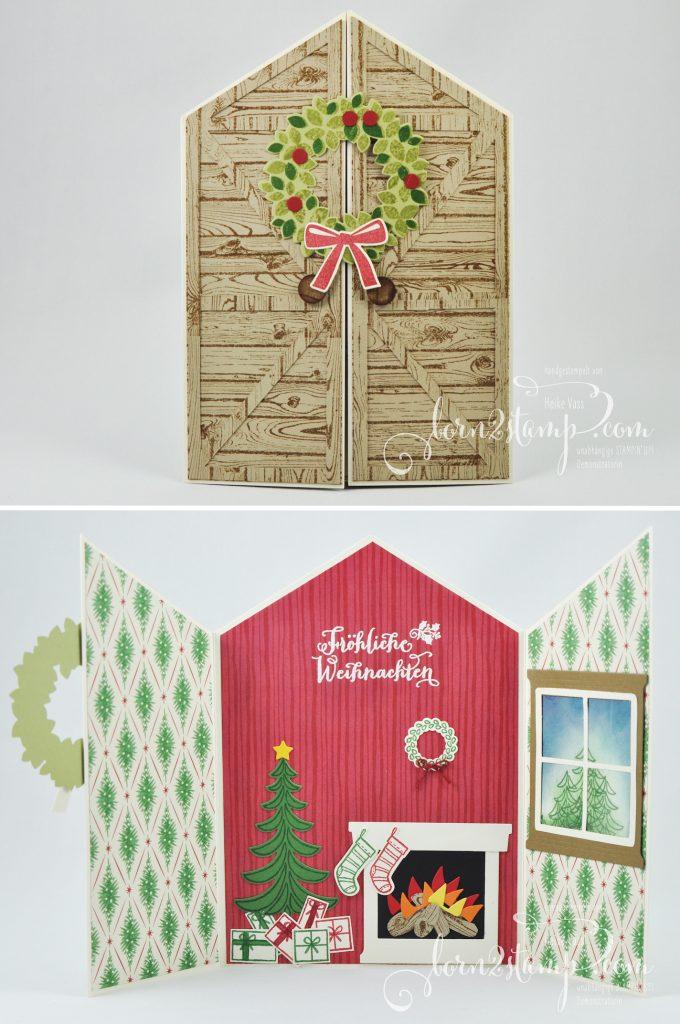 born2stamp STAMPIN' UP! IN{K}SPIRE_me - Weihnachtskarte - Weihnachtsschlitten - Fröhliche Weihnachten - Ballon Framelits - Willkommen Weihnacht - Hardwood
