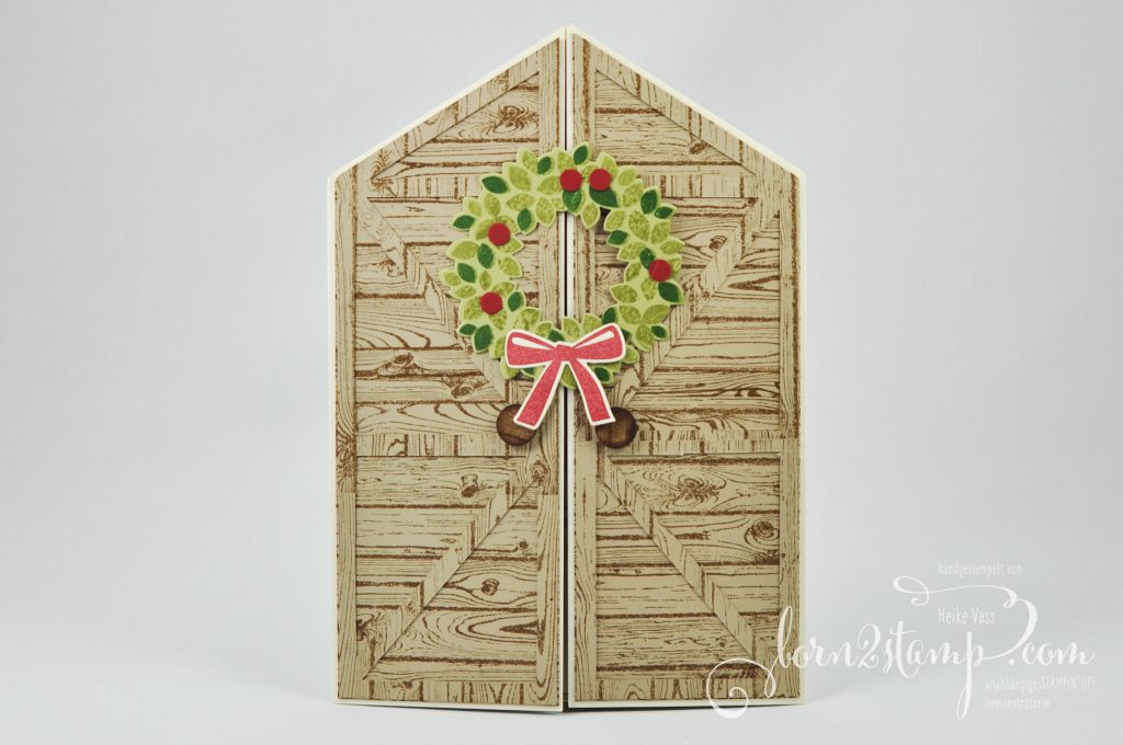born2stamp STAMPIN' UP! IN{K}SPIRE_me - Weihnachtskarte - Willkommen Weihnacht Hardwood