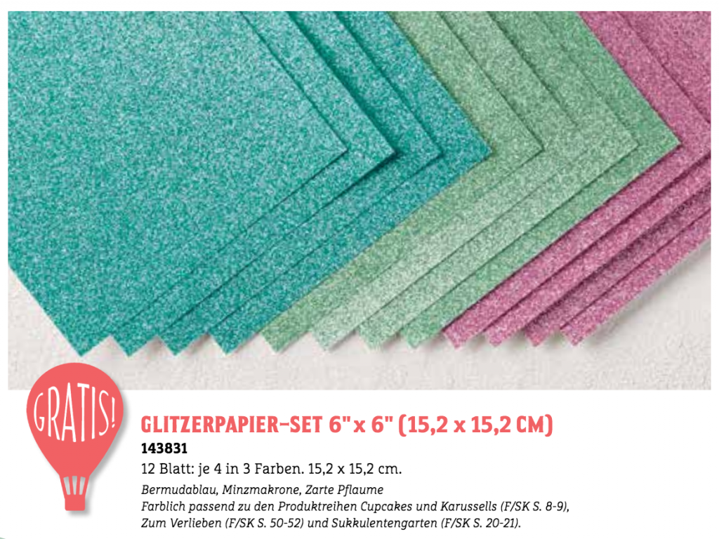 Sale-a-bration 2017 Glitzerpapier