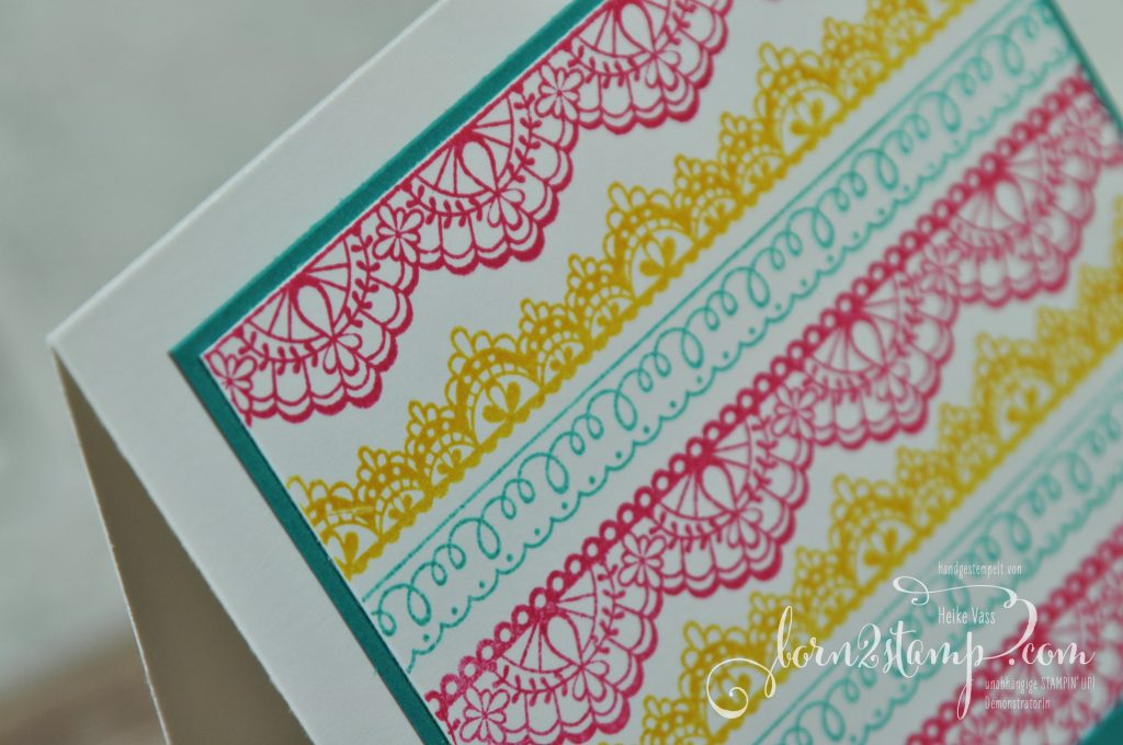 born2stamp STAMPIN' UP! Achievers Blog Hop - Sale-a-bration - Delicate Details - Aus freudigem Anlass