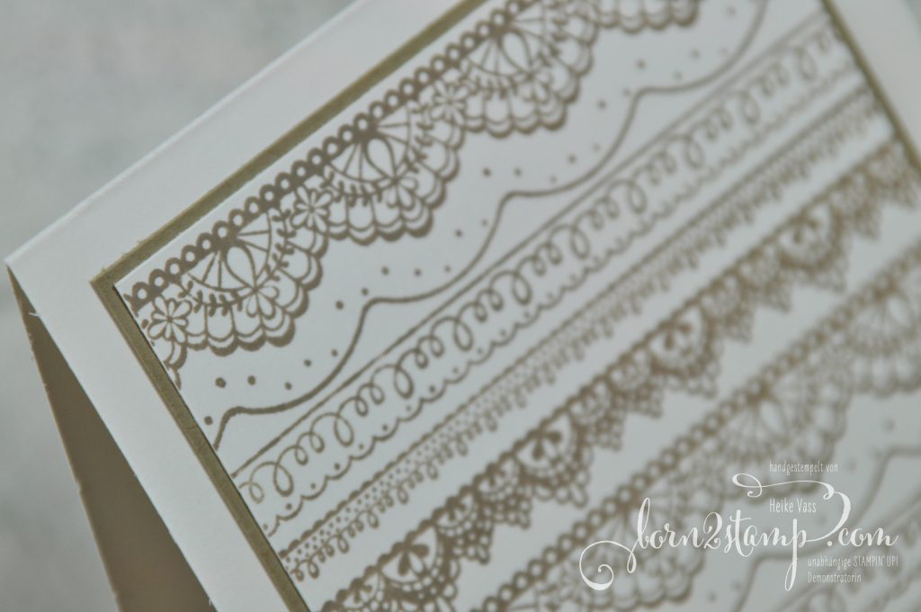 born2stamp STAMPIN' UP! Achievers Blog Hop - Sale-a-bration - Delicate Details - Metallic-Geschenkband
