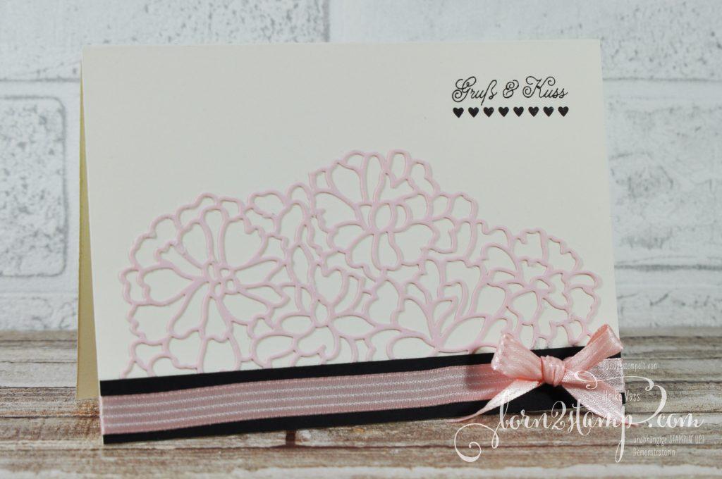born2stamp STAMPIN' UP! Valentinstag - Mit Gruss und Kuss - Thinlits Mit Liebe zum Detail