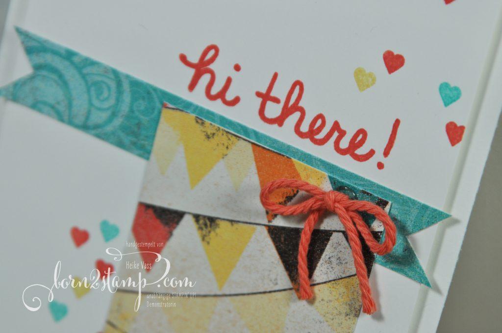 born2stamp STAMPIN' UP! Willkommen Vicky - Builder Birdcage - Aus freudigem Anlass - DSP Cupcakes und Karussells - Labeler Alpha