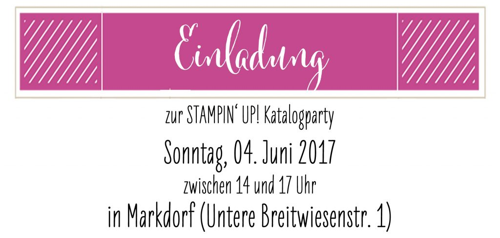 STAMPI' UP! born2tamp Katalogparty Einladung Flyer