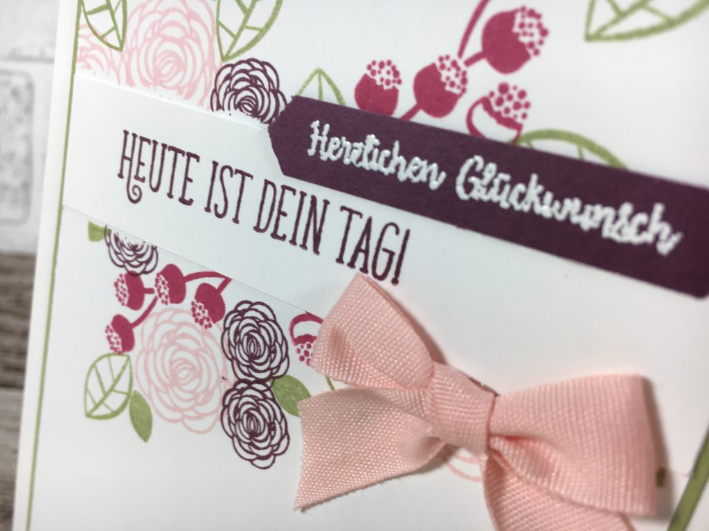 born2stamp STAMPIN' UP! Achievers Bloghop Katalog Favoriten - Alles Liebe Geburtstagskind - fein gewebtes Geschenkband - STanze Klassisches Etikett
