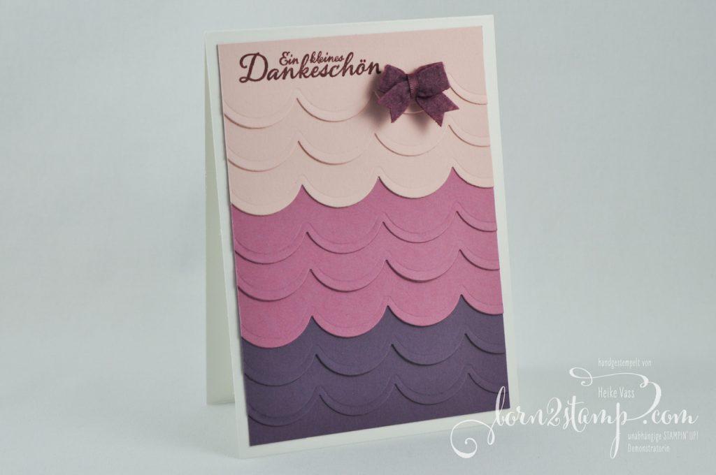 born2stamp STAMPIN' UP! INKSPIRE_me Dankeskarte - Herbstanfang - Aus jeder Jahreszeit Thinlits - Mini-Schleifchen