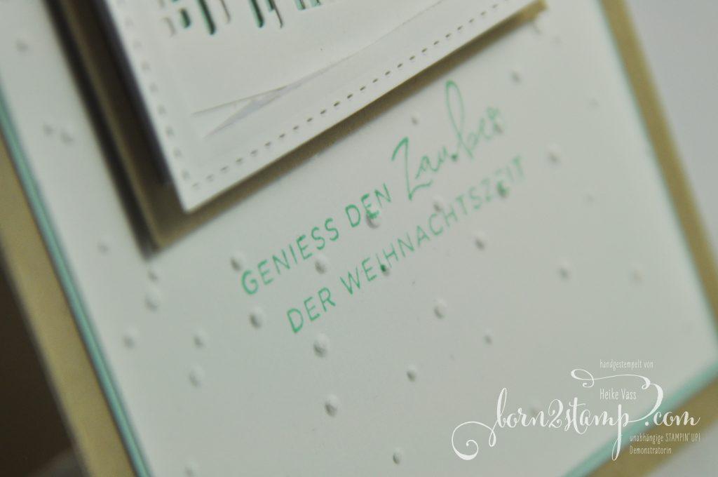 born2stamp STAMPIN' UP! IN{K}SPIRE_me Weihnachtskarte - Weihnachten daheim - Winterstaedtchen - Leise rieselt