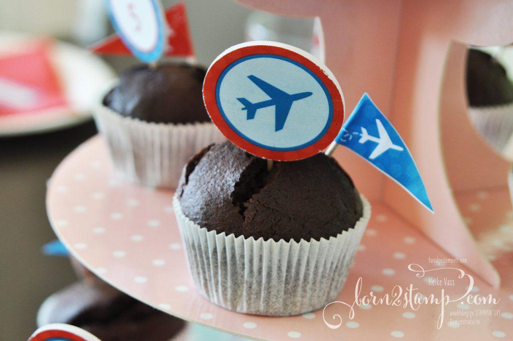 born2stamp Geburtstag Flugzeug Flughafen Tischdeko