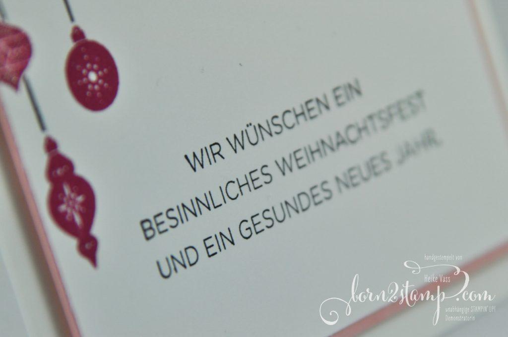born2stamp STAMPIN' UP! IN{K}SPIRE_me Weihnachtskarte - Wie ein Weihnachtslied - Weihnachten daheim - Thinlits Festtagsdesign