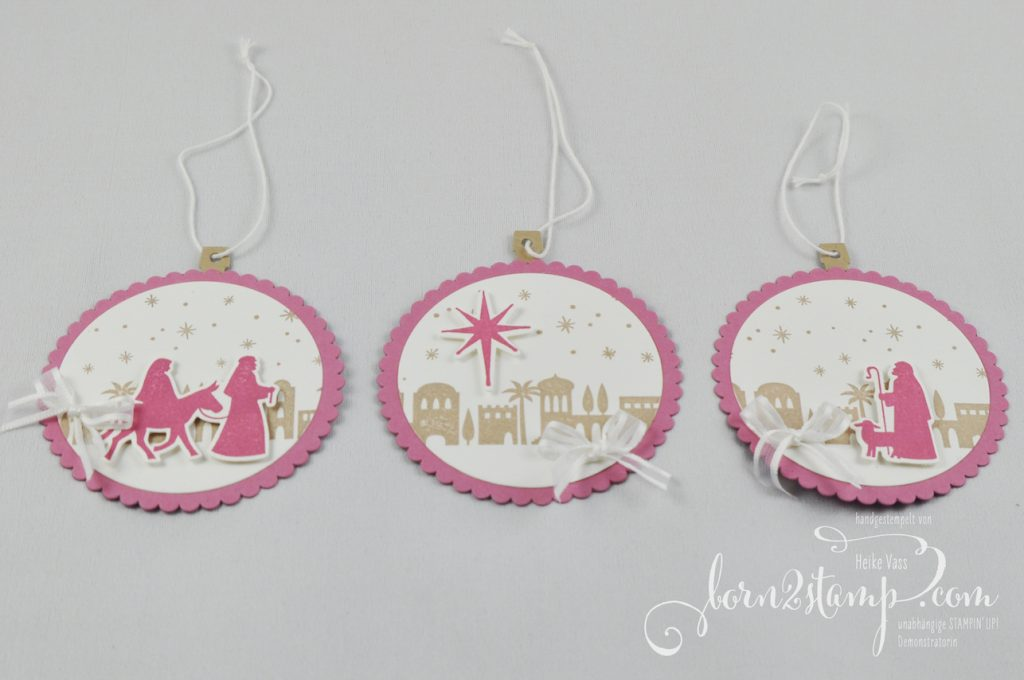 born2stamp STAMPIN' UP! INKSPIRE_me Weihnachts Special Behang - Bethlehem Edgelits - In den Wolken Thinlits - Heilige Nacht