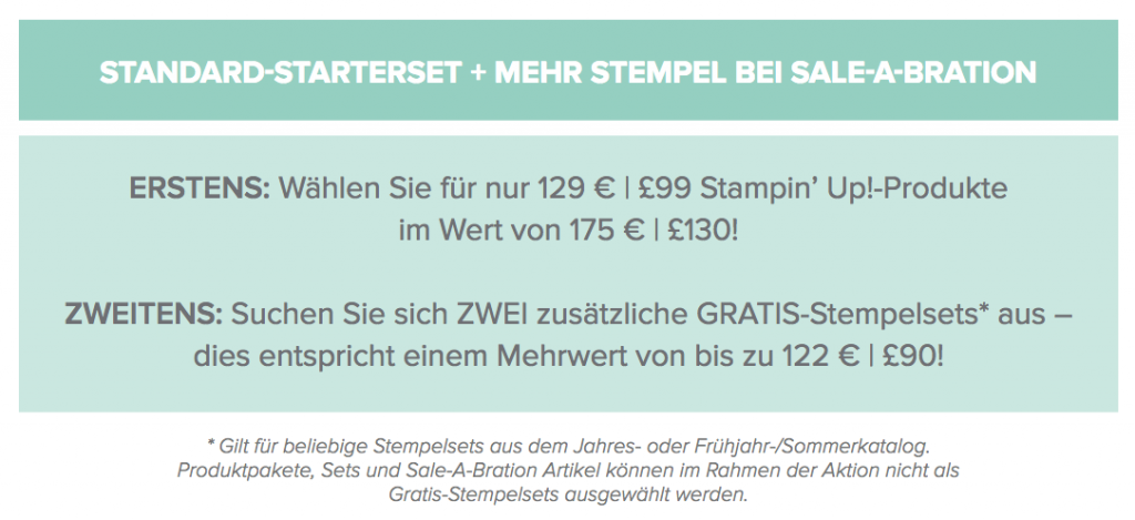 Sale-a-bration 2018 Einsteigen