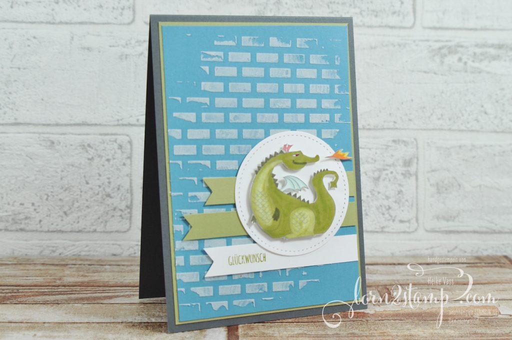 born2stamp STAMPIN' UP! Geburtstagskarte - Zauberhafter Tag - tamping Blends - Strukturpaste