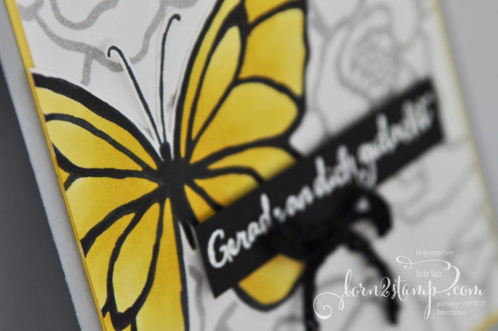 born2stamp STAMPN' UP! Grusskarte - Wunderbarer Tag - Embossing - Stampin' Blends - Vintage-Haekelband